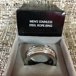 Stainless Steel Rope Ring